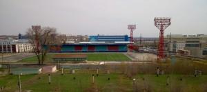 """вид на стадион """"Сокол"""" ул. Одесская"""